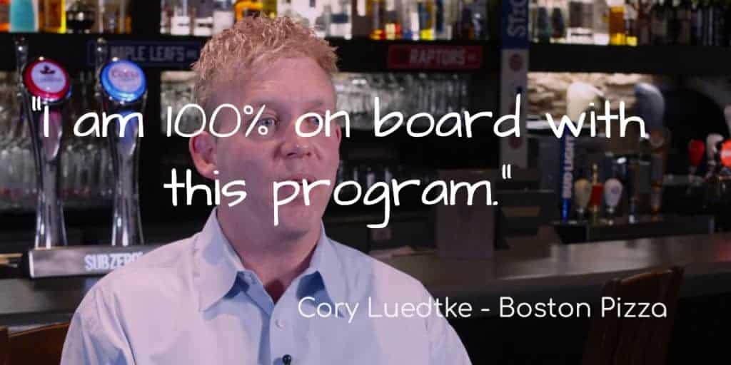 Cory Luedtke - Boston Pizza
