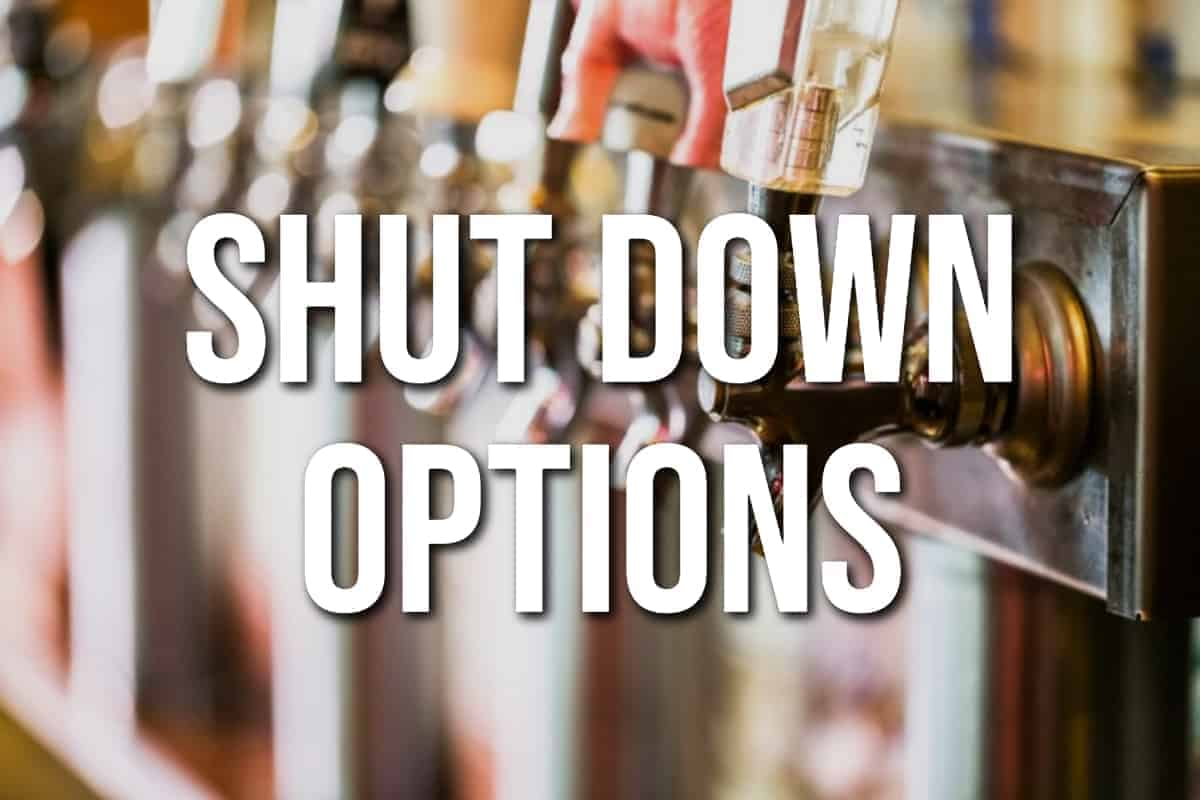 Shut Down Options
